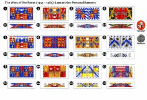 BFL3200  The Wars of the Roses (1455 - 1485): Lancastrian Personal Banners